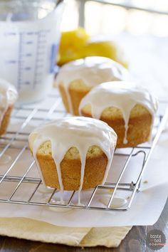 Glazed Lemon Cakes - Taste and Tell