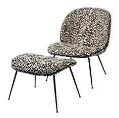 GUBI // Beetle lounge chair with footstool