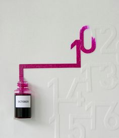 Ink Calendar. It slowly absorbs a month worth of ink, one day at a time.