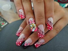 Fotos de unhas decoradas da Minnie (nail art) - Ana Paula Villar Gray Nails, Disney Nails, You Nailed It, Nail Art Designs, Finger, Nail Polish, Advice Quotes, Dating Advice, Gel Nails