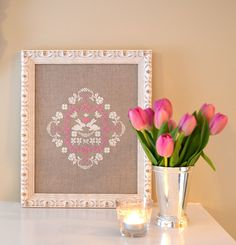 Bunny Love Cross Stitch Pattern. Such a sweet and pretty cross stitch pattern! Peaceful and beautiful.