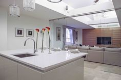 Contemporary Open Plan Kitchen Interior | JHR Interiors