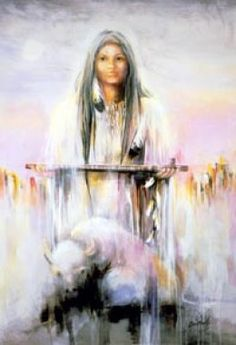 Native American Gods and Goddesses White Buffalo Woman Native American Mythology, Native American Wisdom, American Gods, Native American Women, American Indian Art, Native American Indians, American Bison, American Prayer, Cherokee Indians