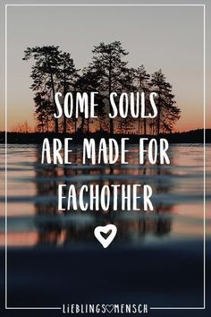 Visual Statements®️ Some souls are made for eachother. Sprüche / Zitate / Qu… Visual Statements® Some souls are made for each other. Sayings / quotes / quotes / life / friendship / relationship / love / family / profound / funny / beautiful / thinking Relationships Love, Relationship Quotes, True Quotes, Funny Quotes, Quotes Quotes, Quotation Marks, Visual Statements, Super Quotes, Funny Love