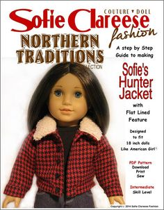 "New at Pixie Faire: Sofie's Hunter Jacket 18"" Doll Clothes"