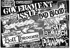 Government Issue / Carcass / Bolt Thrower  MARCH 1988