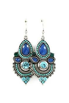 Anne Marie Earrings in Gradient Blues on Emma Stine Limited