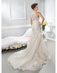 Church Trumpet/Mermaid Natural Wedding Dresses 2014