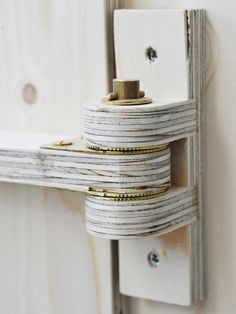 Wicked genius concept of wooden hinges. Simple in fashion yet complex in execution and design.
