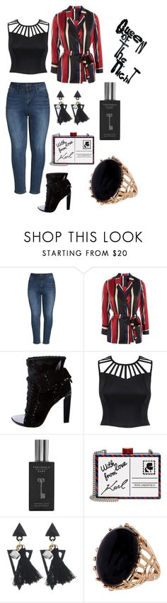 """Queen of the night"" by macgurl on Polyvore featuring Seven7 Jeans, Y.A.S, Alexander Wang, TokyoMilk, Karl Lagerfeld, Rob Wynne and plus size clothing"