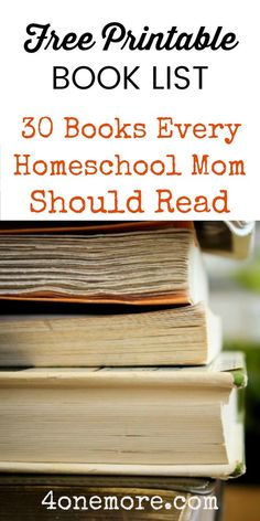 Grab a free printable list of 30 books every homeschool mom should read. Book recommendations from homeschool moms for homeschool moms. Homeschool Books, How To Start Homeschooling, Homeschool Curriculum, Homeschooling Resources, Books For Moms, Good Books, Importance Of Time Management, School Schedule, Home Schooling