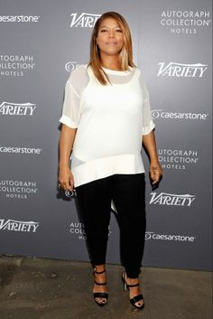 Queen Latifah // Like, how cool is this sweater. And the entire outfit for that matter.