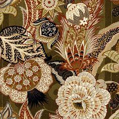 Zanzibar Linen Print | 173522 in Sandalwood | Schumacher Fabric