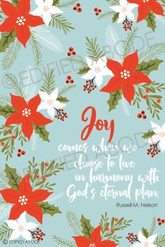 These sweet December 2016 Relief Society Visiting Teaching handouts are perfect to give to the sisters you visit to remind them of the message for the month. Combine them with a yummy treat to make them extra special!  Copyright watermark will not appear on download.  This INSTANT DOWNLOAD includes: 1 jpeg 4x6 file containing the entire message. (This is great to leave if youre not able to make contact in person.) 1 4x6 jpeg file containing the words, Joy comes when we choose to live in…