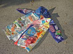 """21st Century Fusion"" fused plastic bags coat ~ photo 4 by Urban Woodswalker, via Flickr"