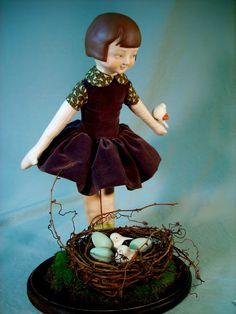 """Gracie's Discovery""  18"" mixed media figure  2007  by Melissa Belanger: studio d' art  www.melissabelanger.com"