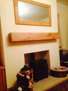 a floating oak shelf and mirror that we made for mr wickerman what do you think customer photos pinterest oak shelves