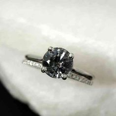 040a19682bd2 27 Stunning And Unique Black Engagement And Wedding Rings For Women