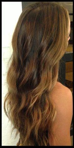 fall hair color ideas - brunette highlights 2013