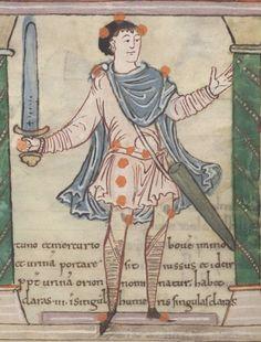 London, British Library, MS Cotton Tiberius B V, f039r Sword - Sword Scabbards - The Viking Age Compendium