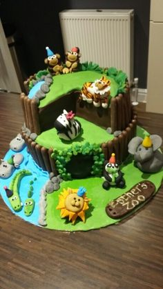 Zoo cake for Esther's birthday More