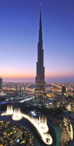 Burj Khalifa, Dubai, constructed between 2004-2009. In 2013 it is the tallest building in the world.