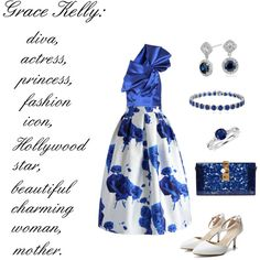 Blue Dream by keepfashion92 on Polyvore featuring moda, Yves Saint Laurent, Chicwish, Dolce&Gabbana, Blue Nile and Effy Jewelry