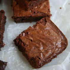 Katharine Hepburn's Brownies  A version of this recipe accompanied an interview with the actress Katharine Hepburn in the August 1975 issue of The Ladies' Home Journal. This brownie recipe, which calls for the smallest amount of flour, produces incredibly chewy bars with a full but mellow chocolate flavor.