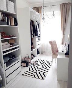Trendy home office closet layout 28 ideas Wardrobe Room, Closet Bedroom, Closet Space, Open Wardrobe, Closet Curtains, Master Closet, Walk In Closet Design, Closet Designs, Wardrobe Design