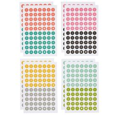 Carpe Diem Calendar Number Stickers Planner by PlayingWithColor2