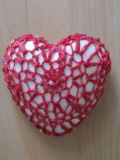 valentine crochet heart 4 p