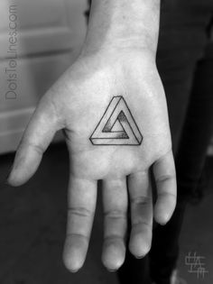 Geometrical tattoo, infinity triangle, always changing never constant.