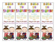 Read to Someone bookmark Daily 5 Reading, Common Core Reading, 2nd Grade Reading, Guided Reading, Daily 5 Kindergarten, Kindergarten Centers, School Resources, Teacher Resources, Teaching Ideas