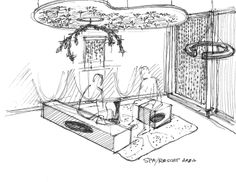 Planning sketch when designing the Swarovski Hospitality Design Expo Booth in Vegas 2012.