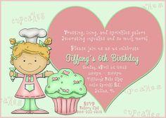 Deb's Party Designs - Cupcake Decorating Birthday Invitation , $1.00 (http://www.debspartydesigns.com/cupcake-decorating-birthday-invitation/)