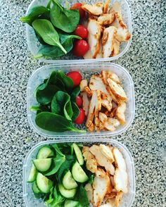 21 Simple Meal-Prep Combinations Anyone . - Pin for Later: 21 Simple Meal Prep Combinations Anyone Can Do Cucumbers + Chicken + Tomatoes - Quick Healthy Meals, Healthy Snacks, Easy Meals, Healthy Eating, Healthy Mayo, Simple Healthy Lunch, Simple Snacks, Simple Diet, Simple Meals