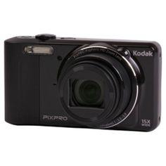 Kodak Pix Pro FZ151 Digital Camera, Black, 16MP, 15x Optical Zoom 3.
