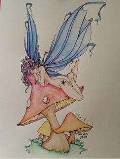 #coloriage #crayonsdecouleur #carandache #swisscolor #aquarelle #byme #spacedyn #fée #fairy