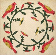 Barbara Brackman's MATERIAL CULTURE: Birds in Applique