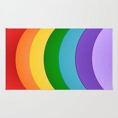 #Rainbow Design Area & Throw #Rug