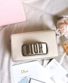 Christian Dior Dio(r)evolution Flap Bag With Slot Handclasp M8000