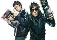 Noel And Liam Gallagher by ~hoo0 on deviantART