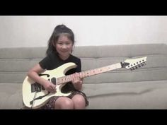 "Guthrie Govan ""Fives"" Cover / Li-sa-X (Japanese 8 year old girl)"
