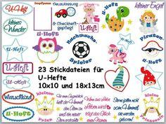 Set+23+Stickdateien+für+U-Hefte+10x10+und+18x13cm+von+Tanja-macht-Geschenke+auf+DaWanda.com