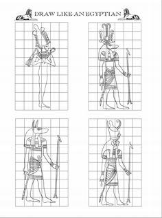 Egyptian Art Handout #5 (Egyptian Figure Proportions