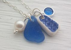 I love this Etsy Scottish Sea Glass Jewelry by seaglasssparkles  ~ summer at the beach! ~
