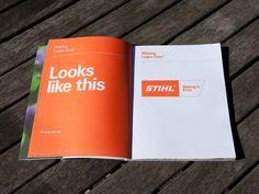 """Popatrz na ten projekt w @Behance: """"STIHL - Making It Easy Brand Guidelines"""" https://www.behance.net/gallery/2341732/STIHL-Making-It-Easy-Brand-Guidelines"""