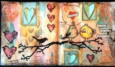 CREATIVITY IS CONTAGIOUS: LOVE ROCKS ART JOURNAL PAGES FOR COMPENDIUM OF CURIOSITIES III CHALLENGE