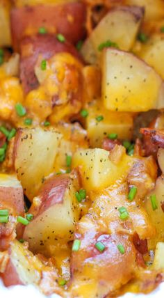 Slow Cooker Cheesy Bacon Ranch Potatoes [ Vacupack.com ] #thanksgiving #quality #fresh