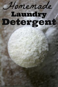 Quick and easy borax free homemade laundry detergent recipe.